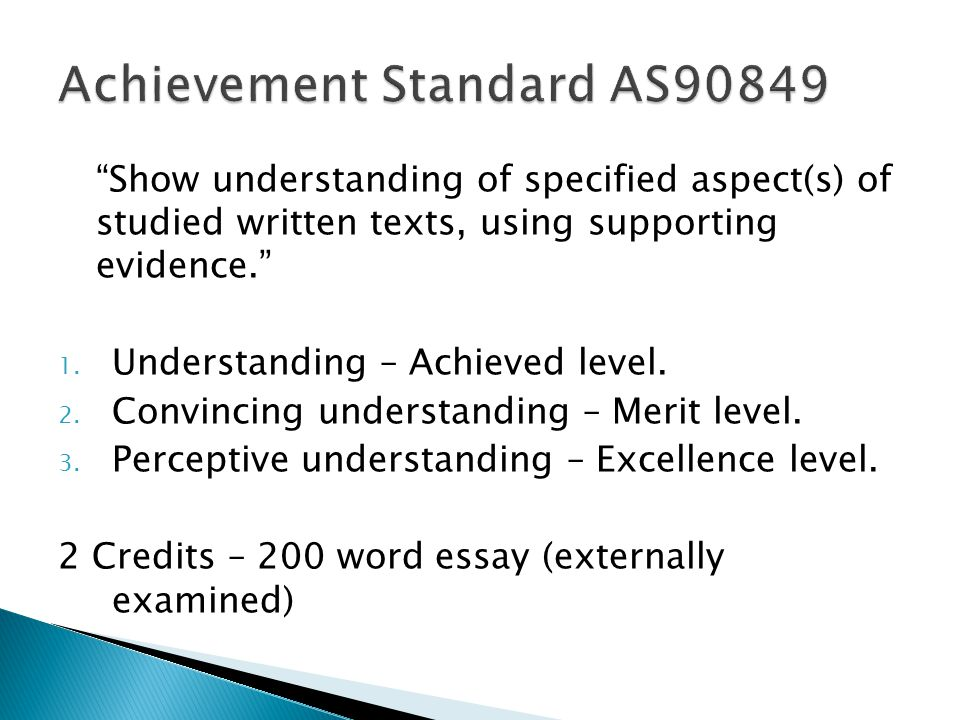 Achievement Standard AS90849