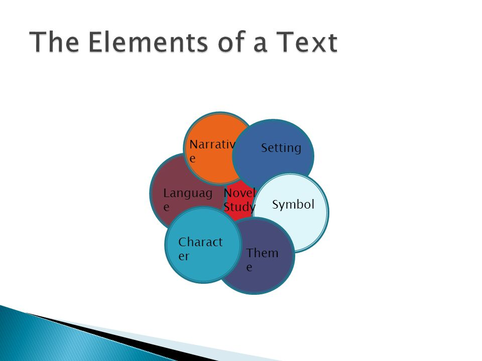 The Elements of a Text Narrative Setting Language Novel Study Symbol