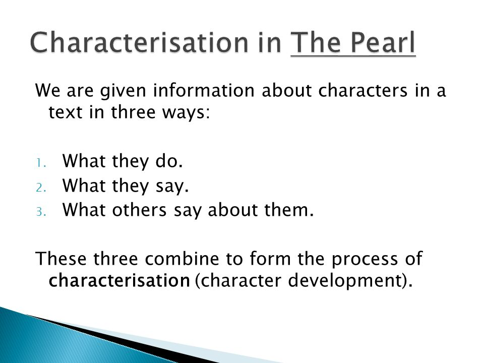 Characterisation in The Pearl