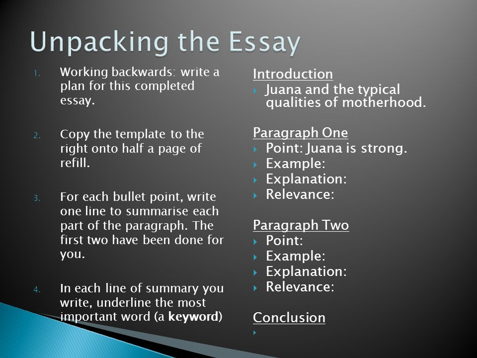 Unpacking the Essay Introduction