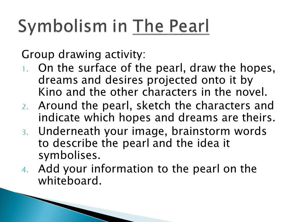 Symbolism in The Pearl Group drawing activity: