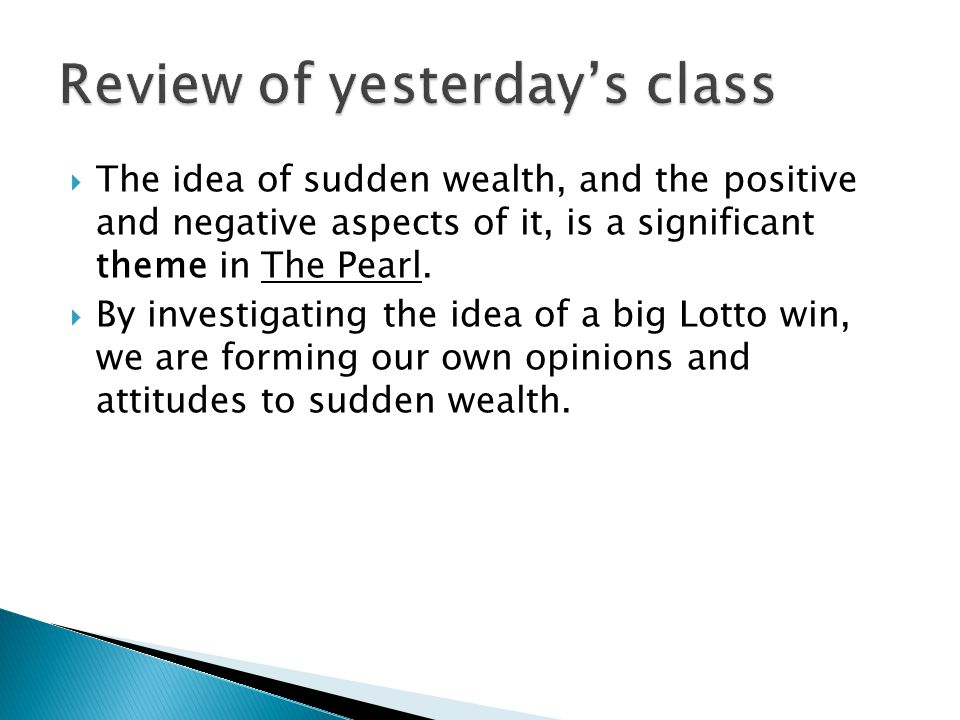 Review of yesterday's class