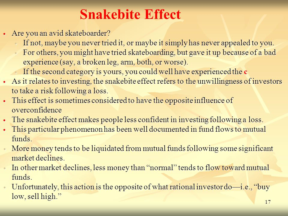 Snakebite Effect Are you an avid skateboarder