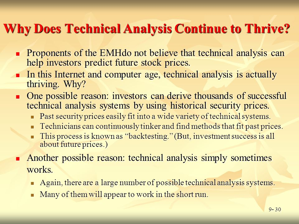 Why Does Technical Analysis Continue to Thrive