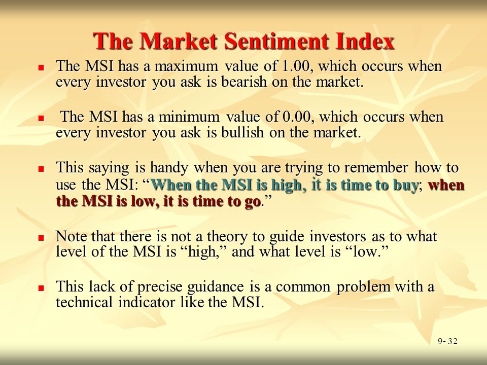 The Market Sentiment Index
