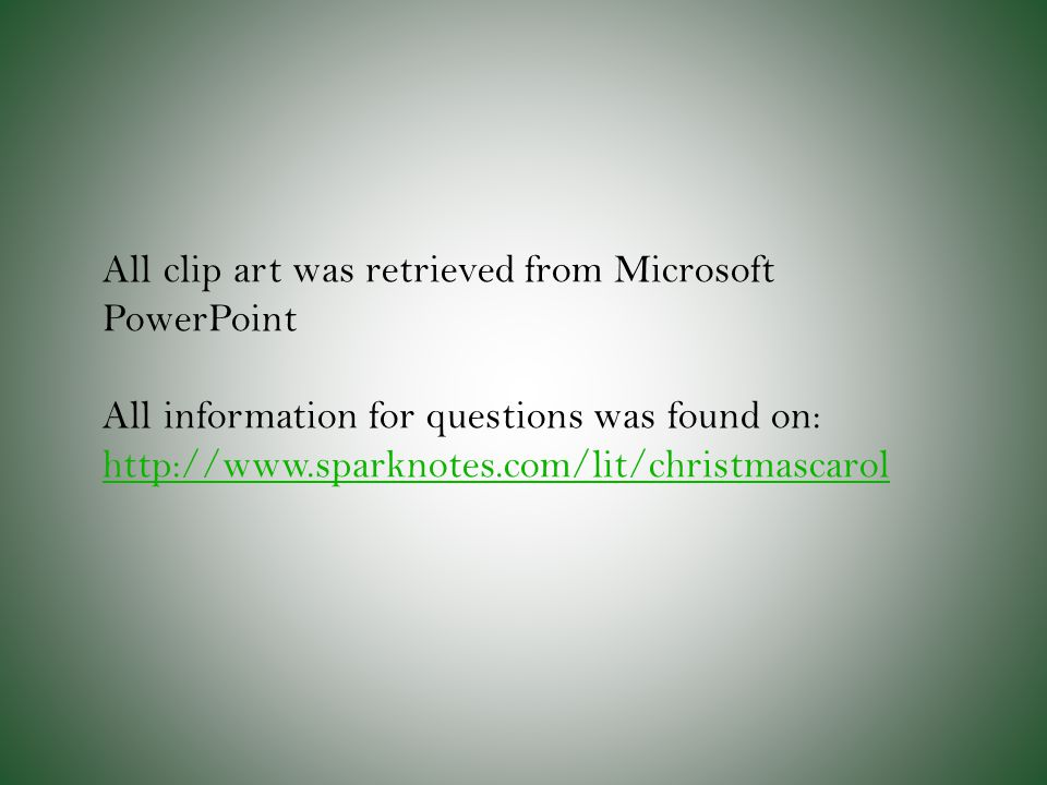 All clip art was retrieved from Microsoft PowerPoint