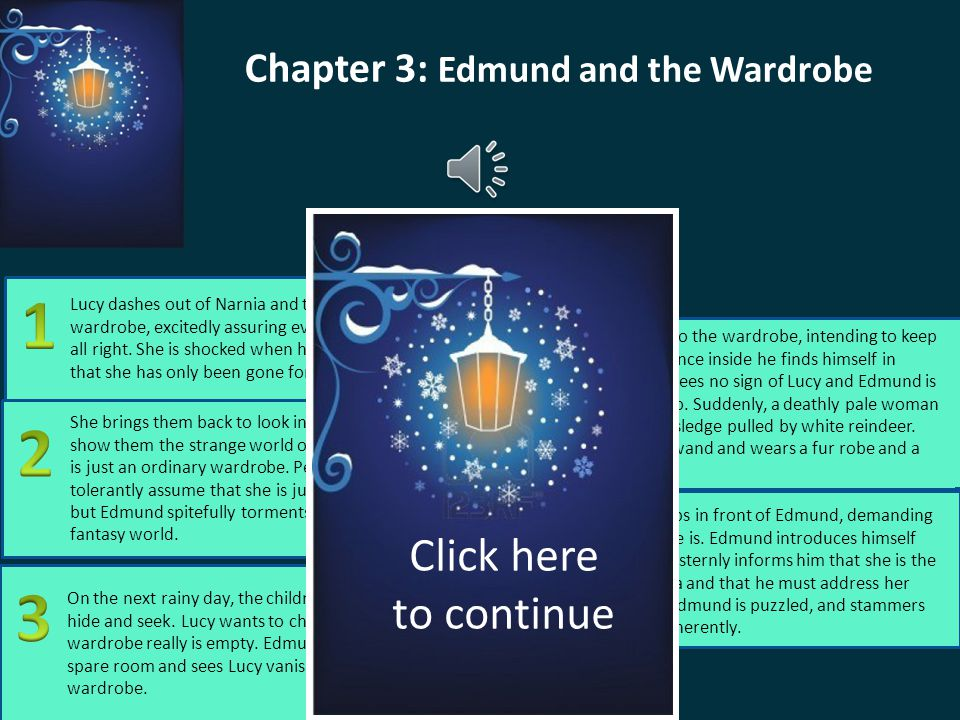 Chapter 3: Edmund and the Wardrobe