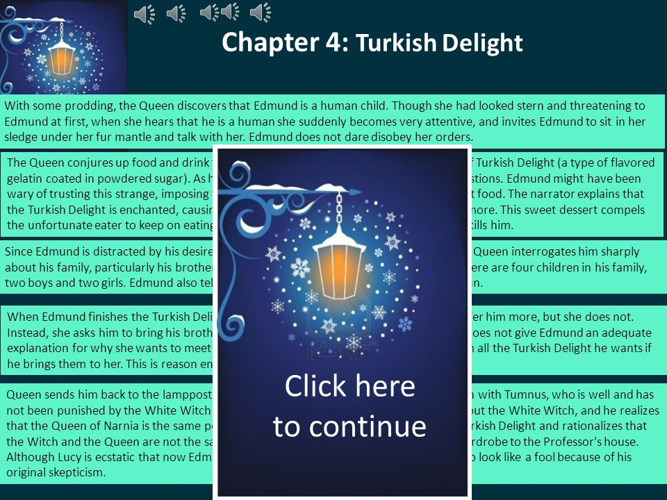 Chapter 4: Turkish Delight