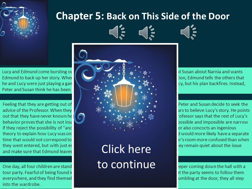 Chapter 5: Back on This Side of the Door