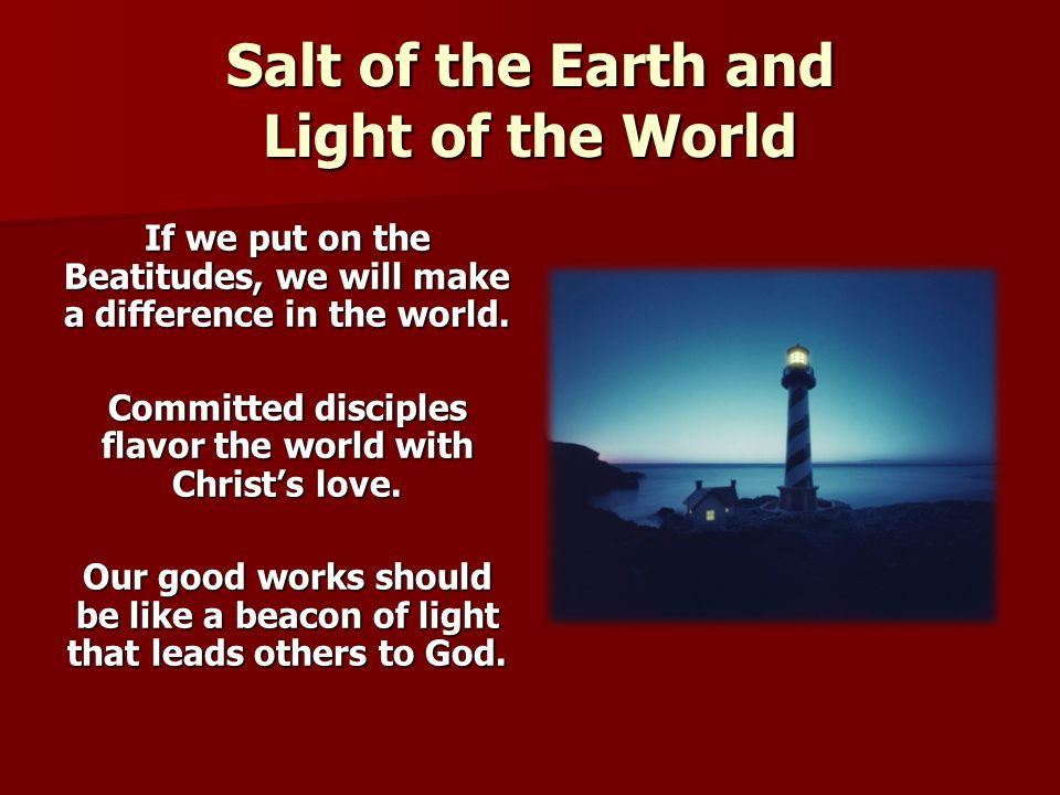 Salt of the Earth and Light of the World