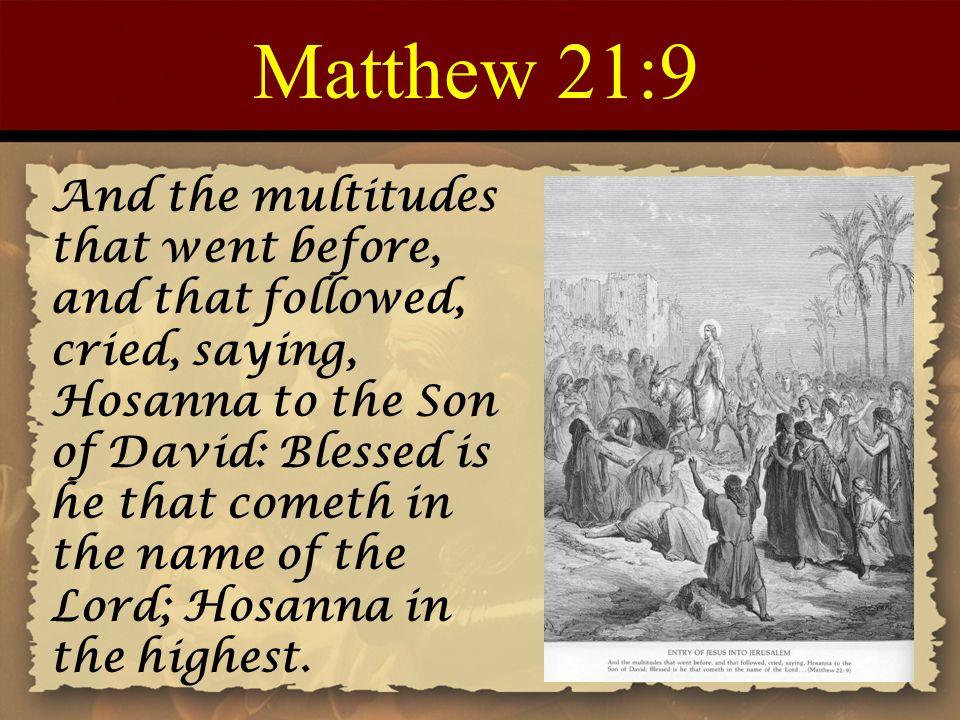 Matthew 21:9