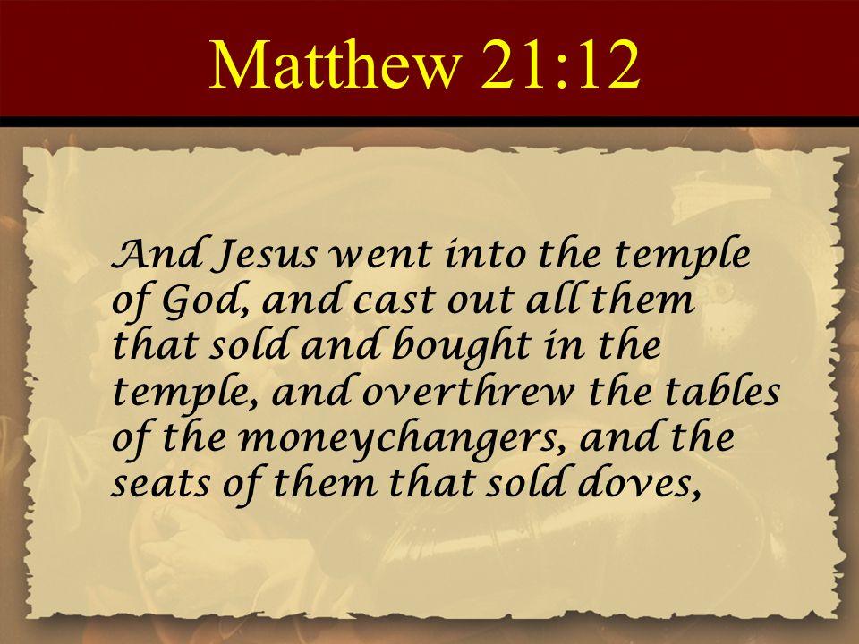 Matthew 21:12