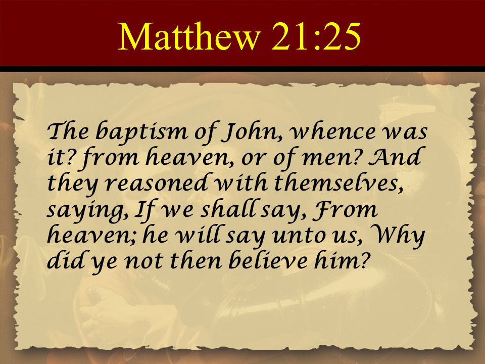 Matthew 21:25