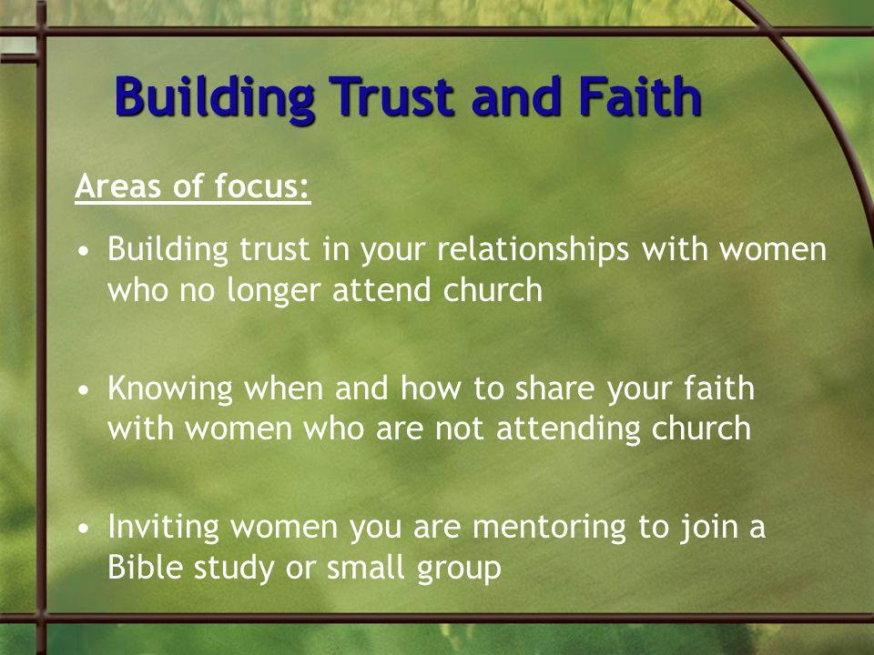 Building Trust and Faith