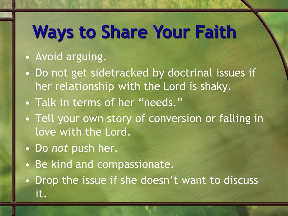 Ways to Share Your Faith