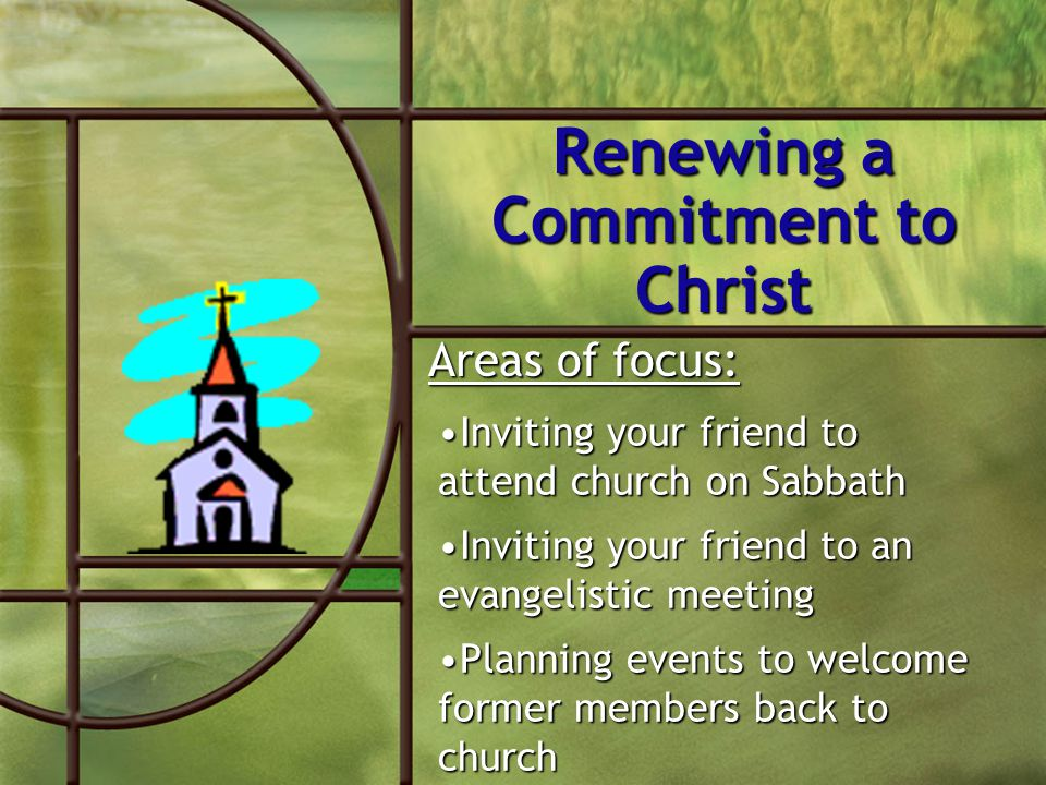 Renewing a Commitment to Christ