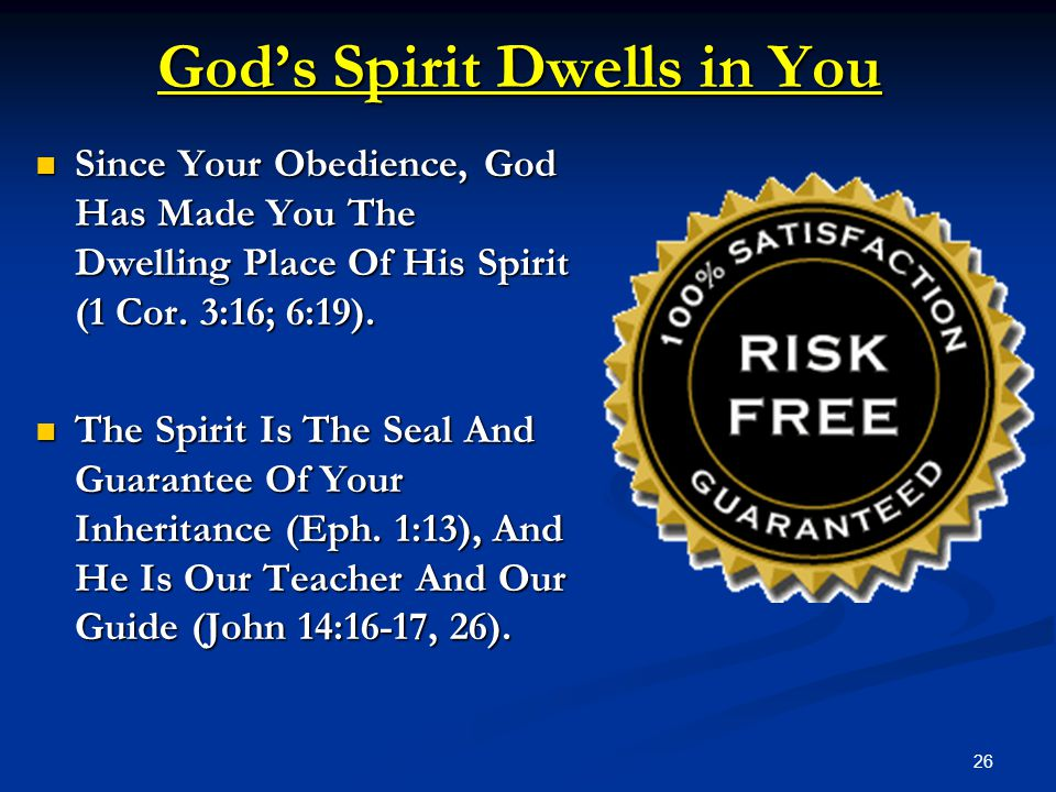 God's Spirit Dwells in You