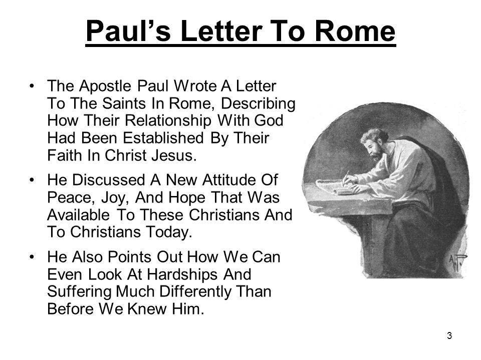 Paul's Letter To Rome
