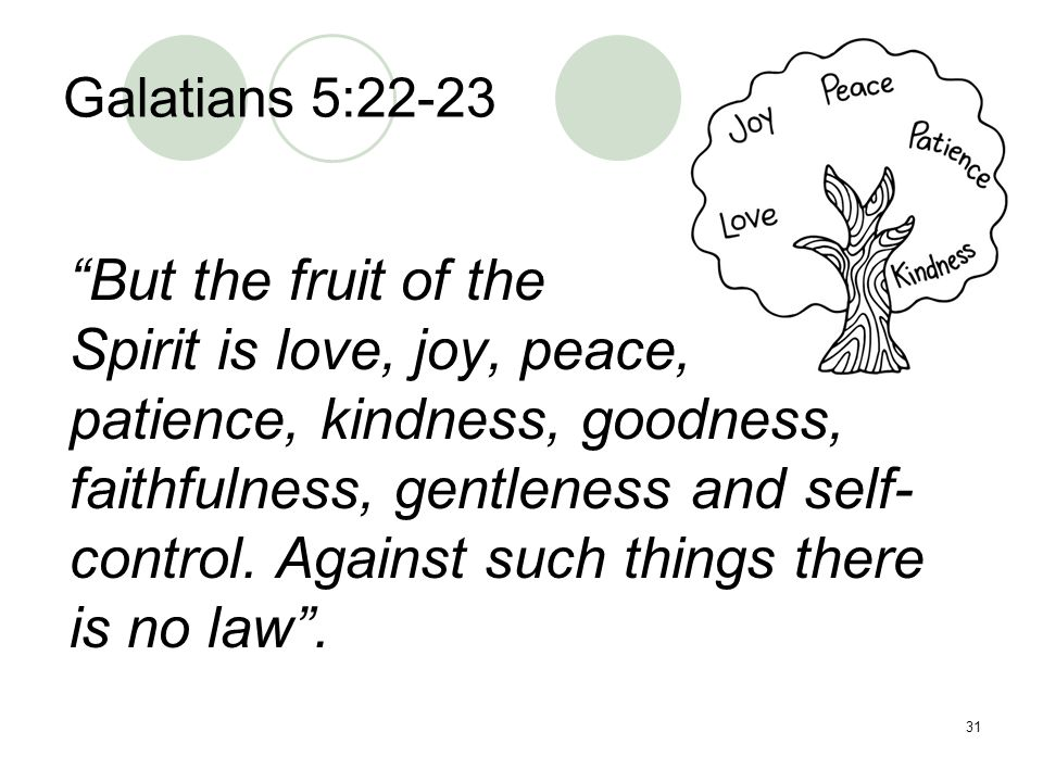 Spirit is love, joy, peace,