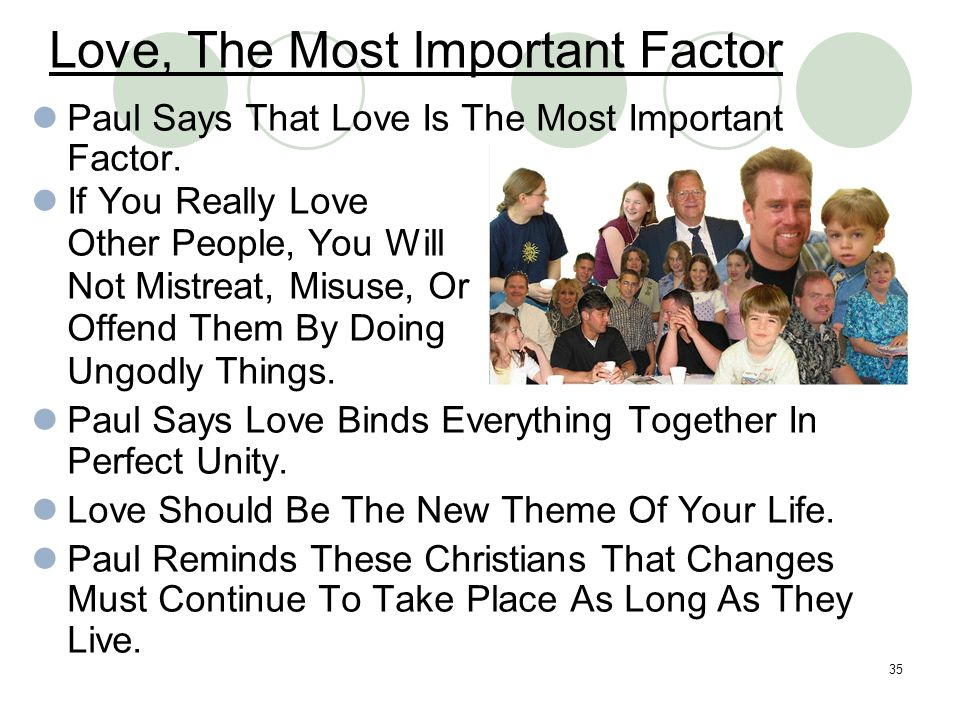 Love, The Most Important Factor