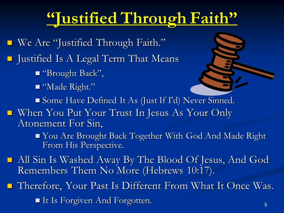 Justified Through Faith