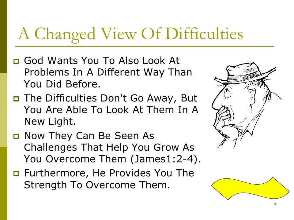 A Changed View Of Difficulties