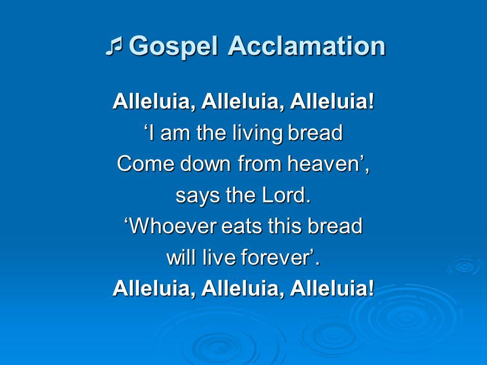 Gospel Acclamation Alleluia, Alleluia, Alleluia!