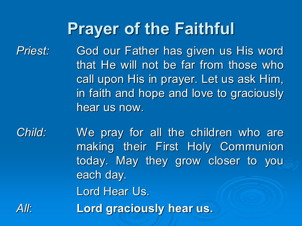 Prayer of the Faithful