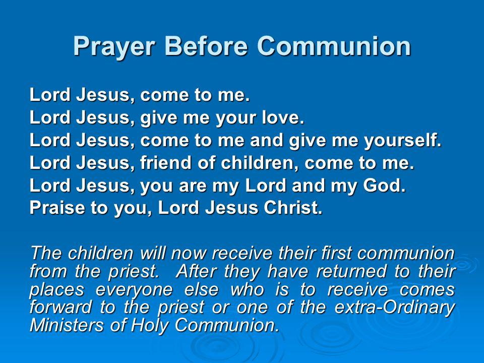 Prayer Before Communion