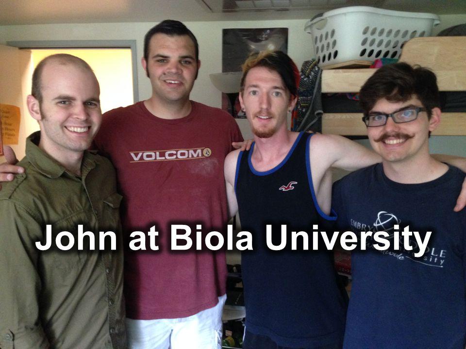John at Biola University