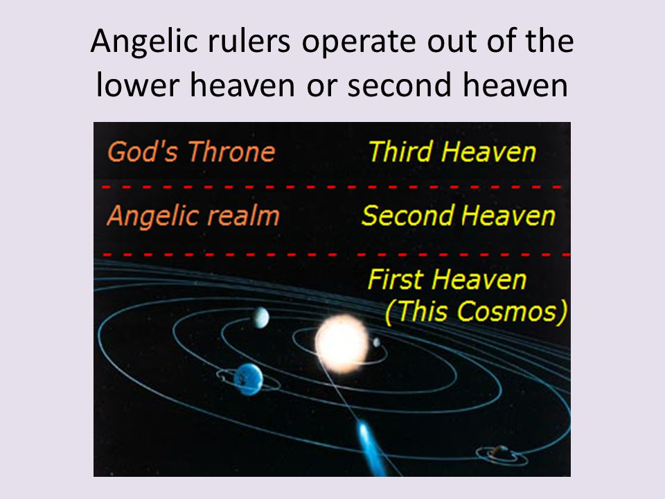 Angelic rulers operate out of the lower heaven or second heaven