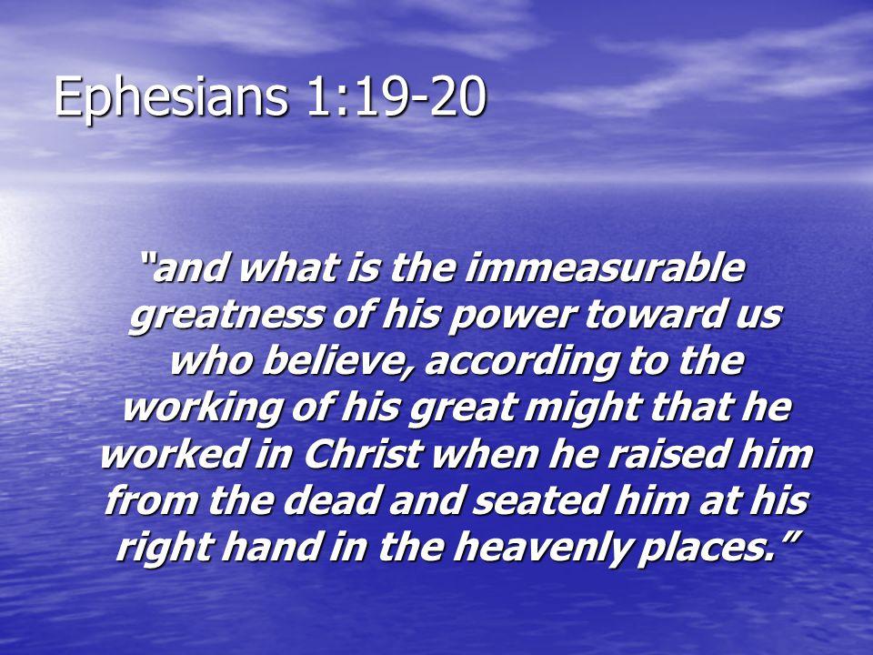 Ephesians 1:19-20
