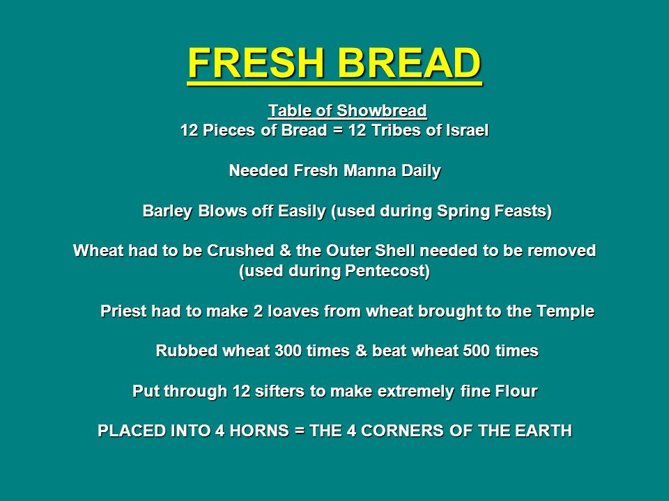 FRESH BREAD Table of Showbread