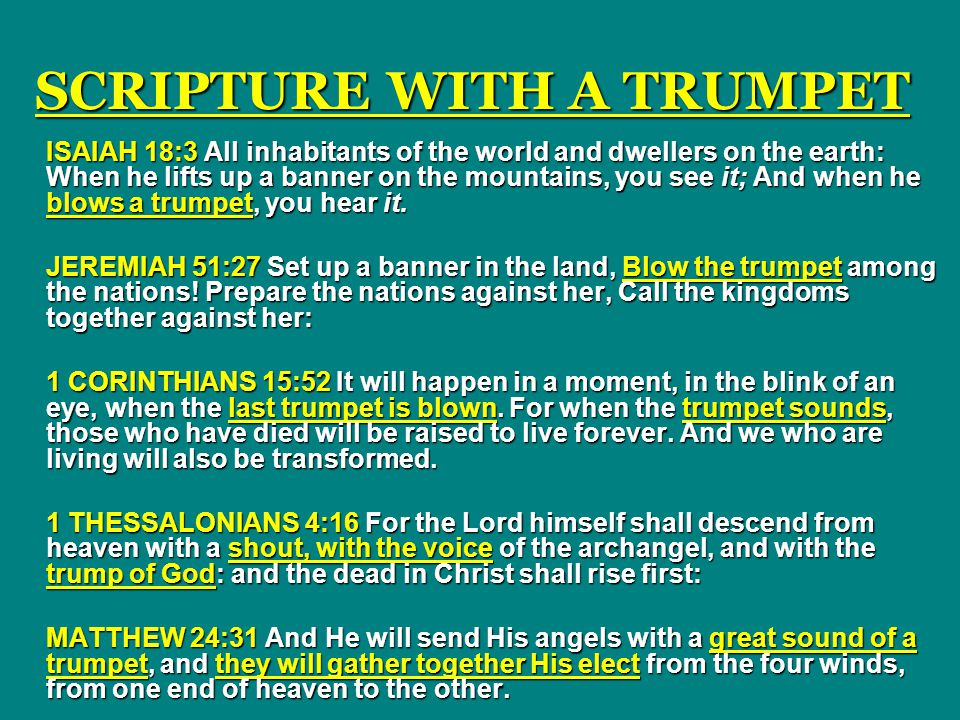 SCRIPTURE WITH A TRUMPET