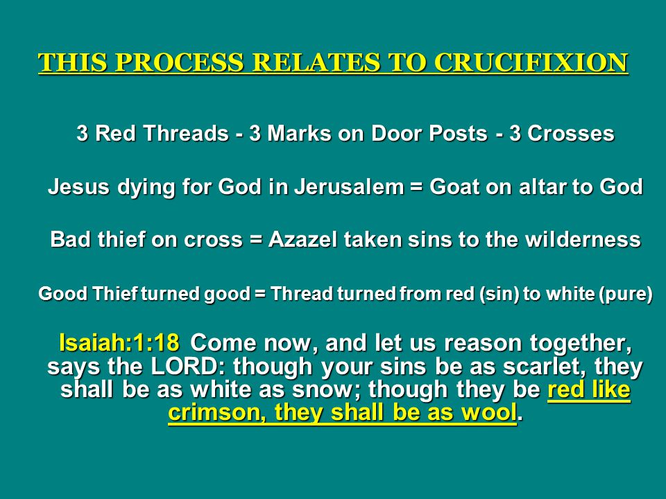 THIS PROCESS RELATES TO CRUCIFIXION