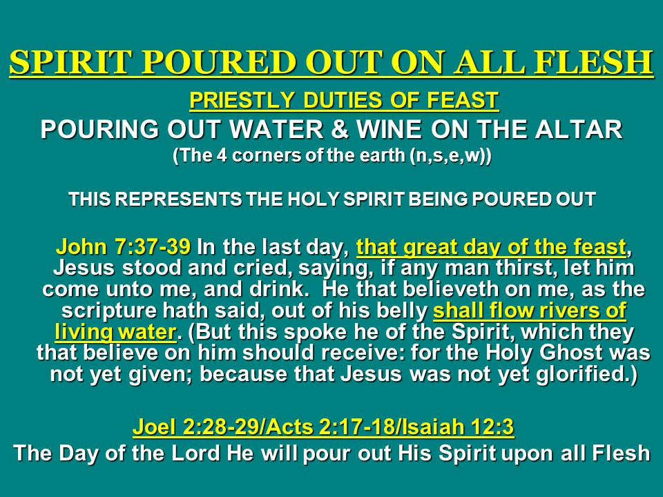 SPIRIT POURED OUT ON ALL FLESH