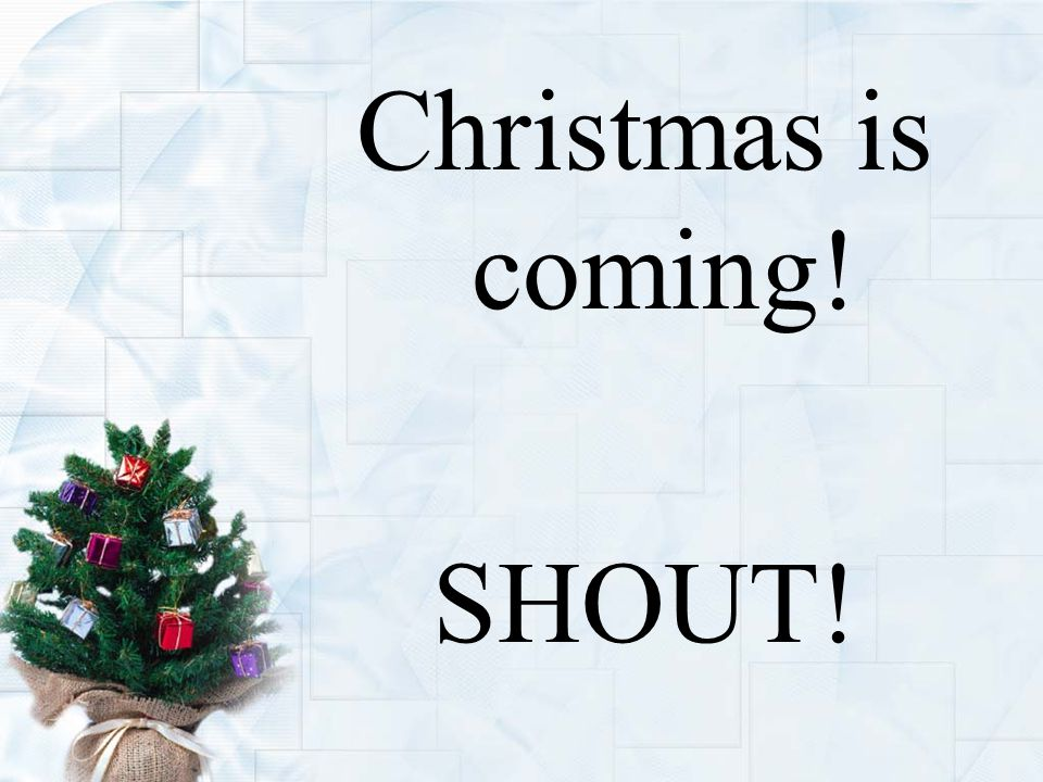 Christmas is coming! SHOUT!