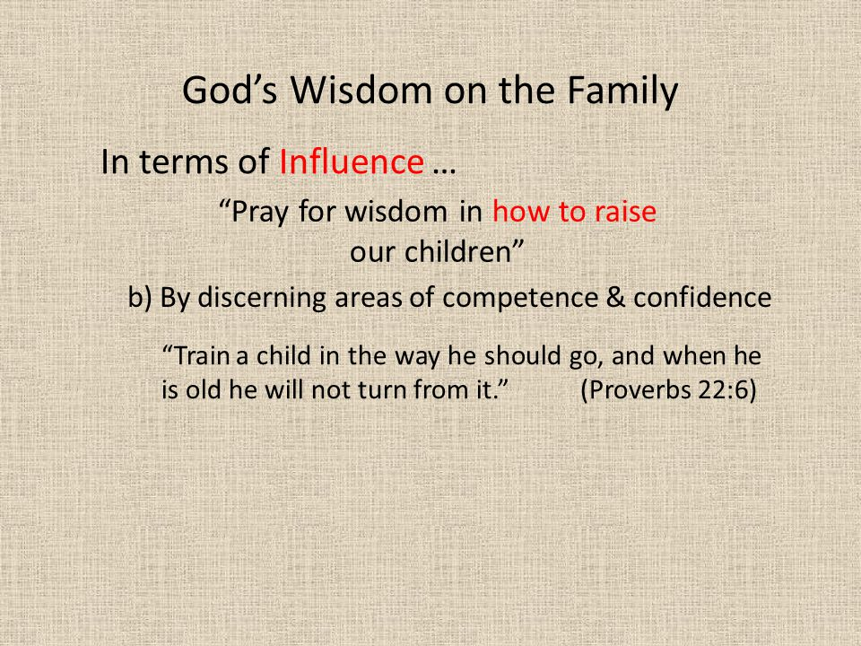 Pray for wisdom in how to raise our children