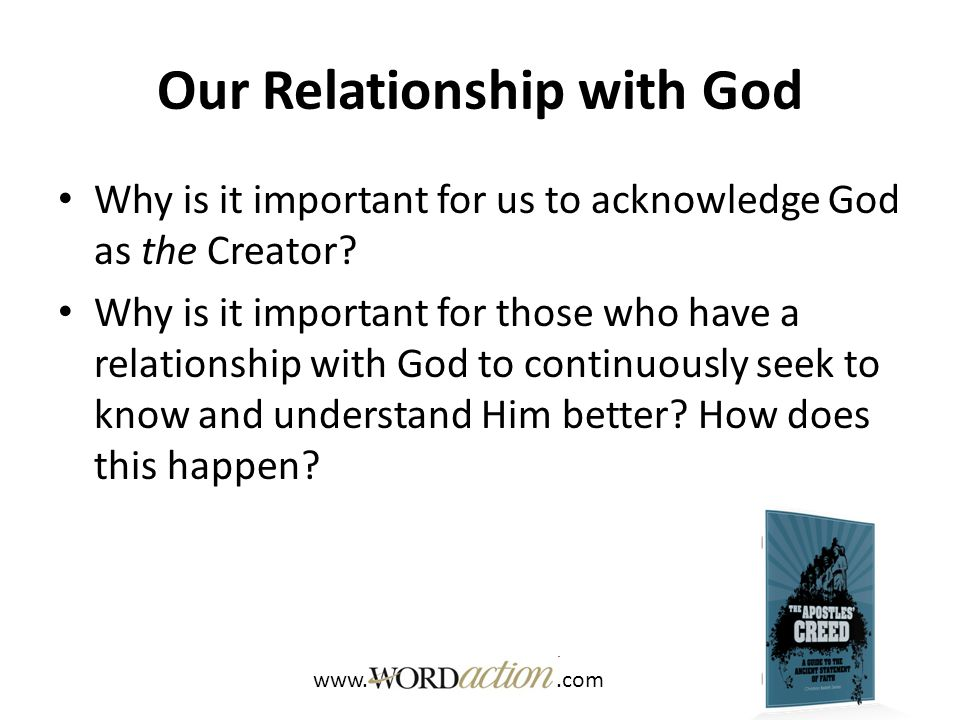 Our Relationship with God