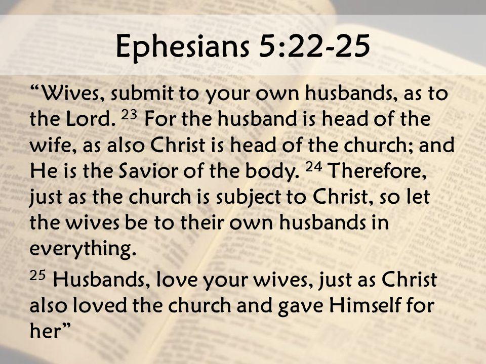 Ephesians 5:22-25