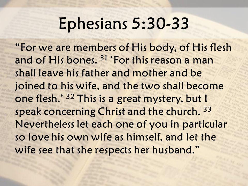 Ephesians 5:30-33