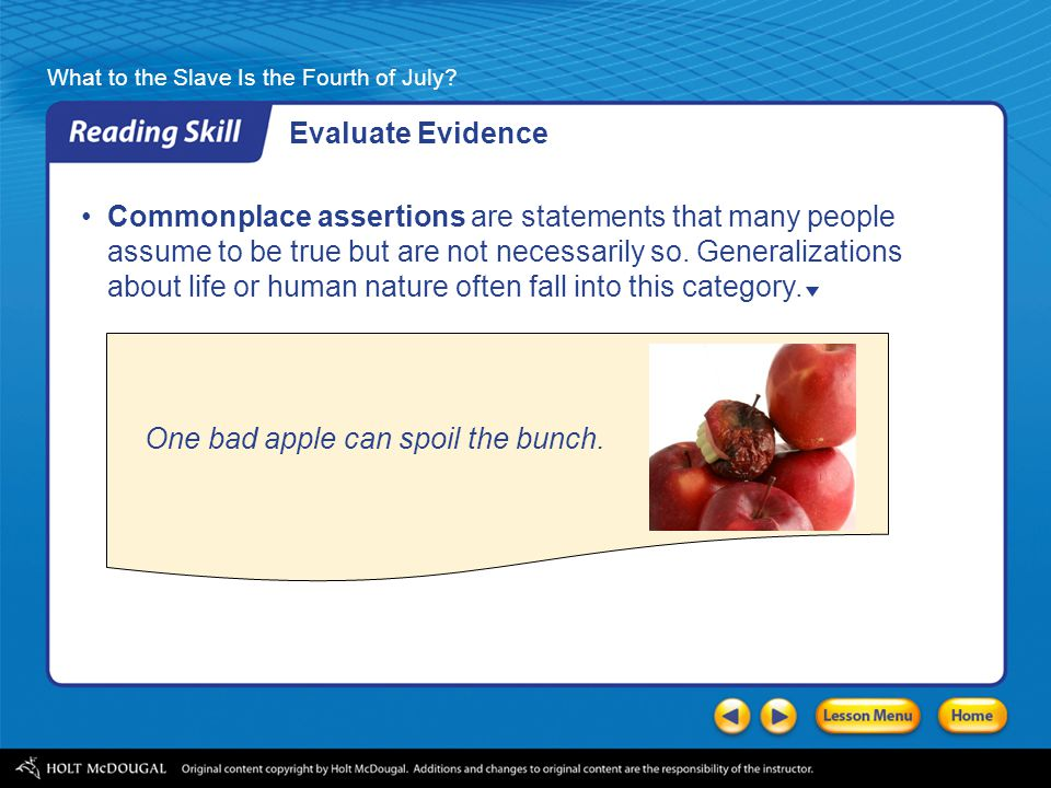 Evaluate Evidence