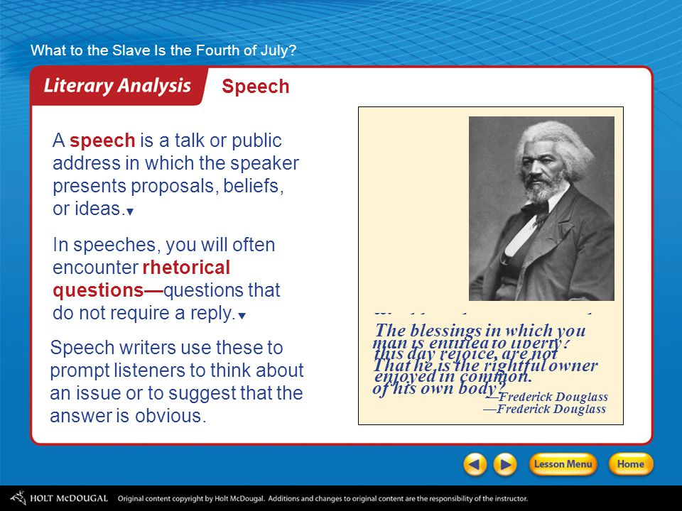 Speech A speech is a talk or public address in which the speaker presents proposals, beliefs, or ideas.