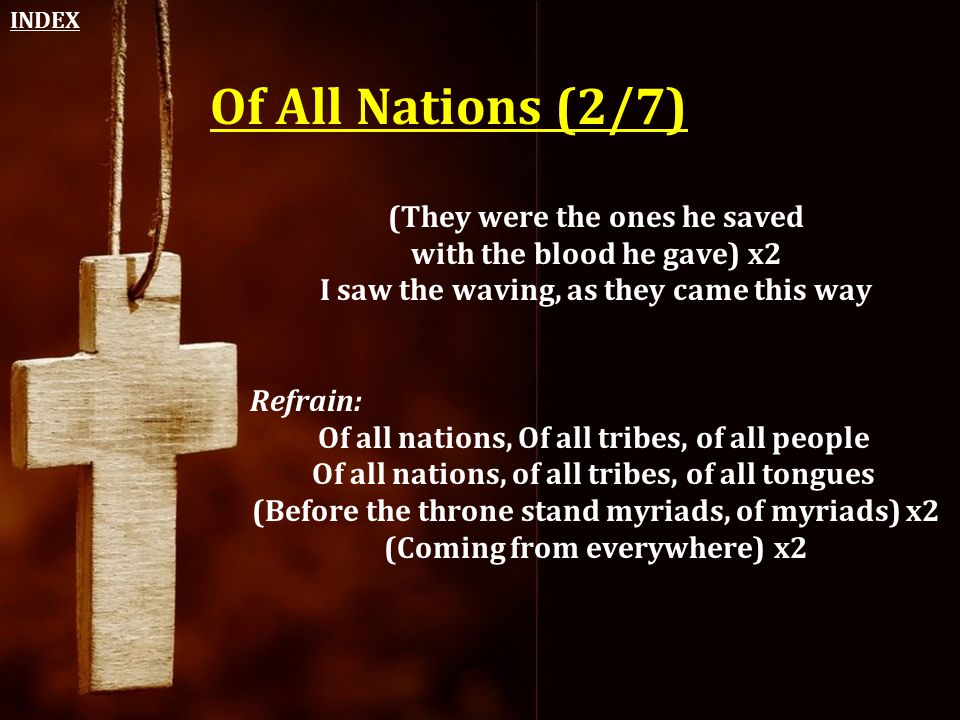 Of All Nations (2/7) (They were the ones he saved