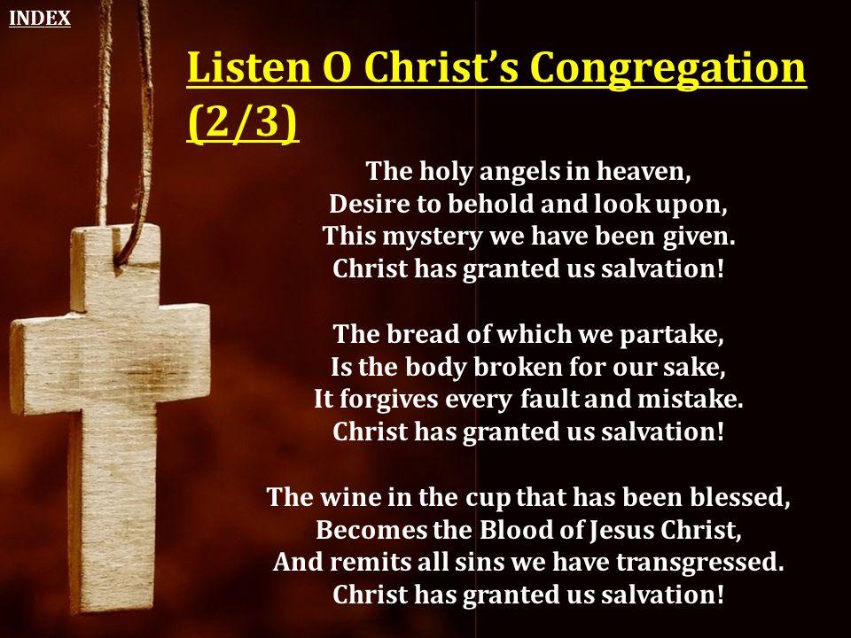Listen O Christ's Congregation (2/3)