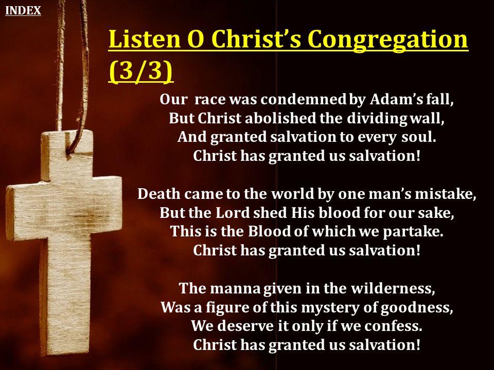 Listen O Christ's Congregation (3/3)