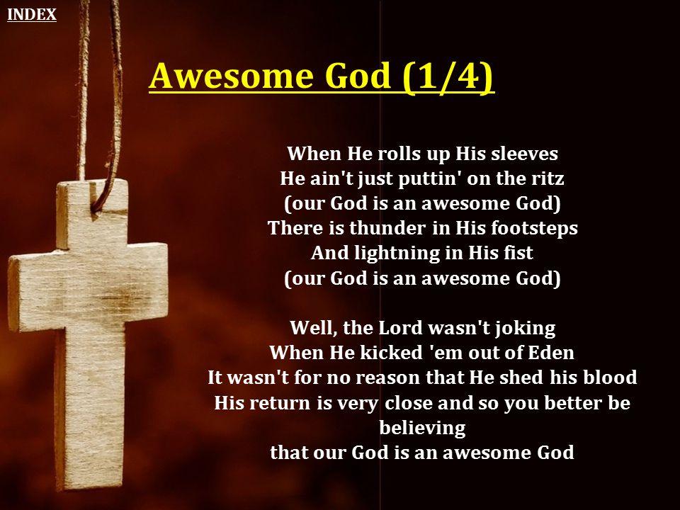 INDEX Awesome God (1/4)
