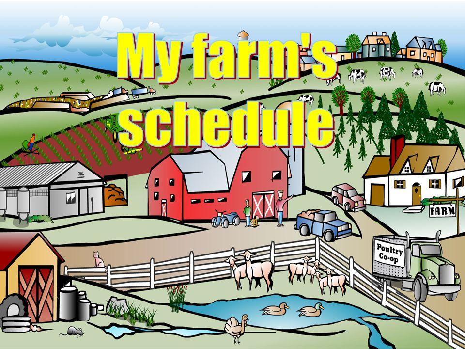 My farm s schedule