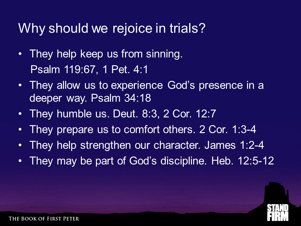 Why should we rejoice in trials