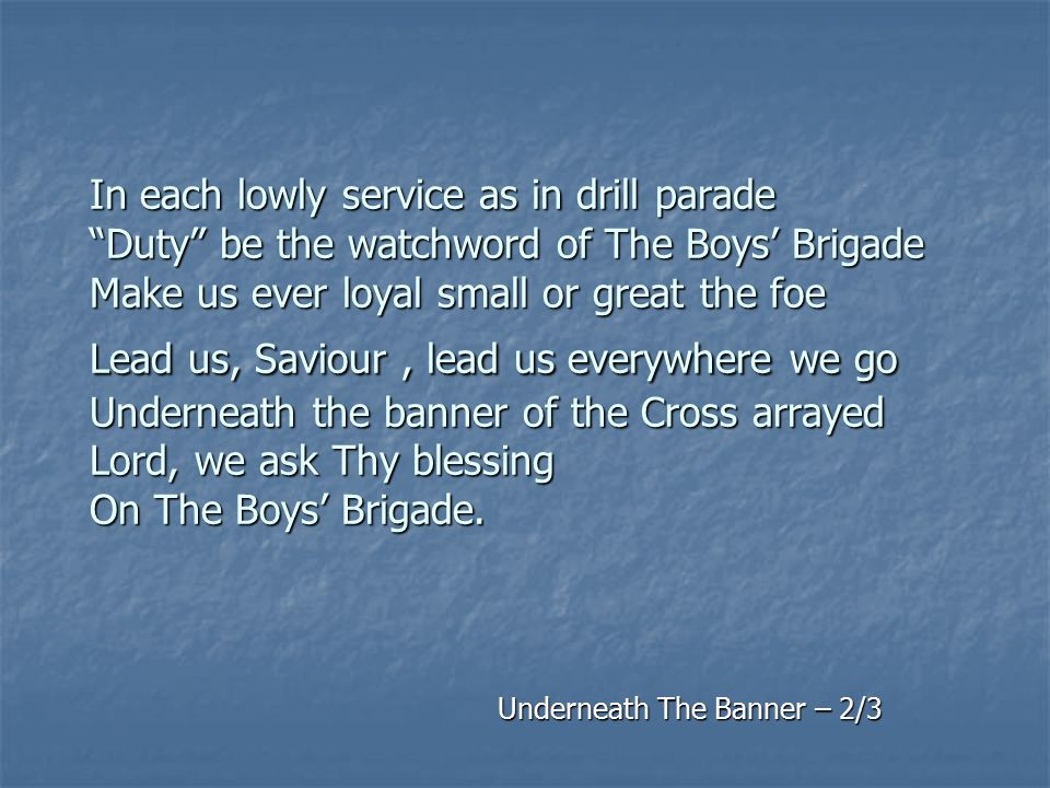 Underneath The Banner – 2/3